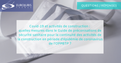 Coronavirus et construction